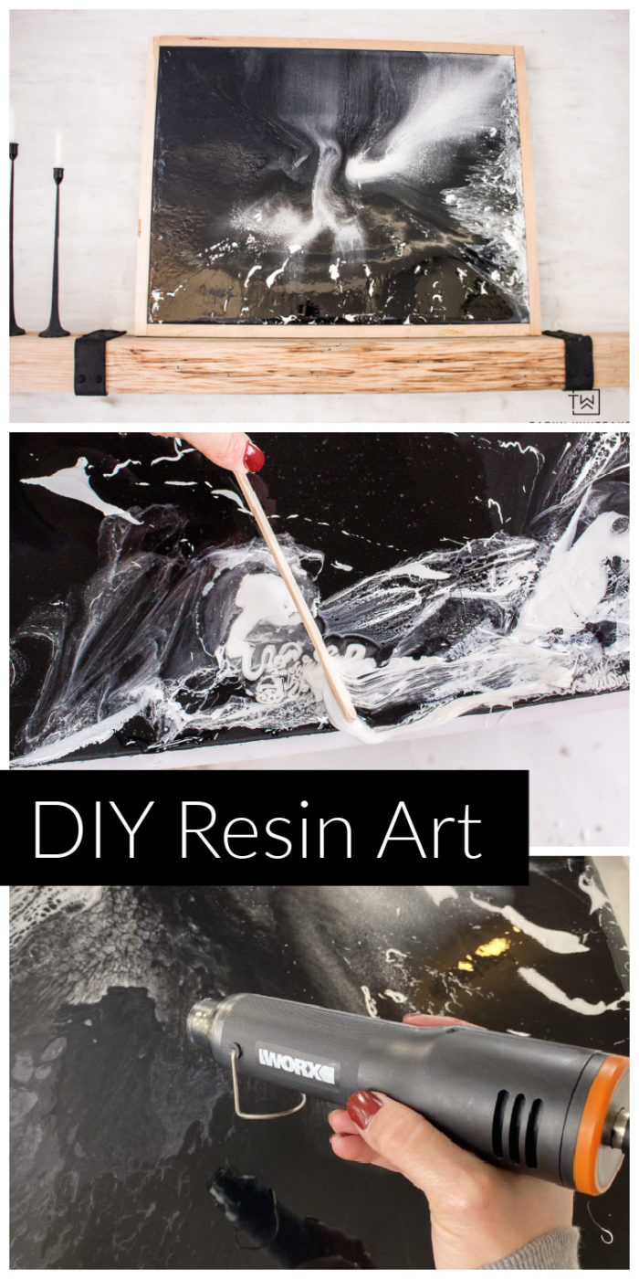 Learn how to make your own DIY Resin Canvas Artwork ! Choose your own colors and create your own DIY modern art for your home.