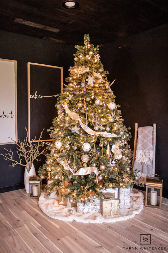 Cream and Gold Christmas Tree