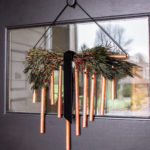 DIY Copper Christmas Door Decor