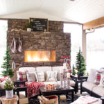 Christmas Outdoor Fireplace