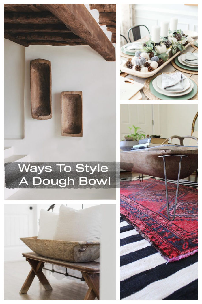 Here are tons of ideas on How To Style A Dough Bowl ! From turning it into a table, wall art and centerpieces.