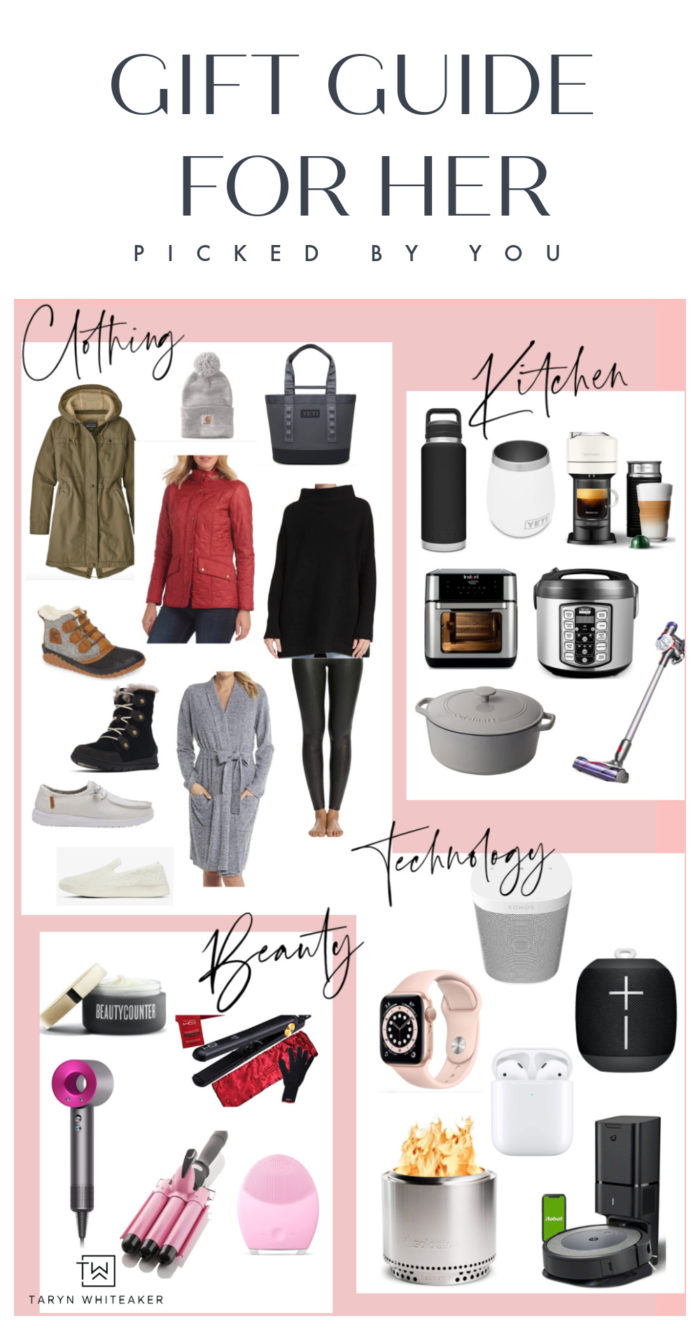 the ultimate 2020 gift guide for her ! These are all products recommended by readers who love and use these products daily! You can't go wrong!