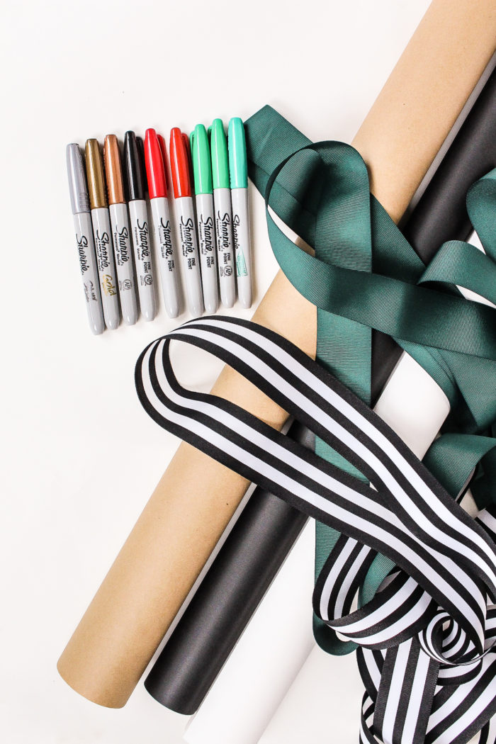 DIY Sharpie Christmas Gift Wrap! Create your own Holiday Wrapping Paper!