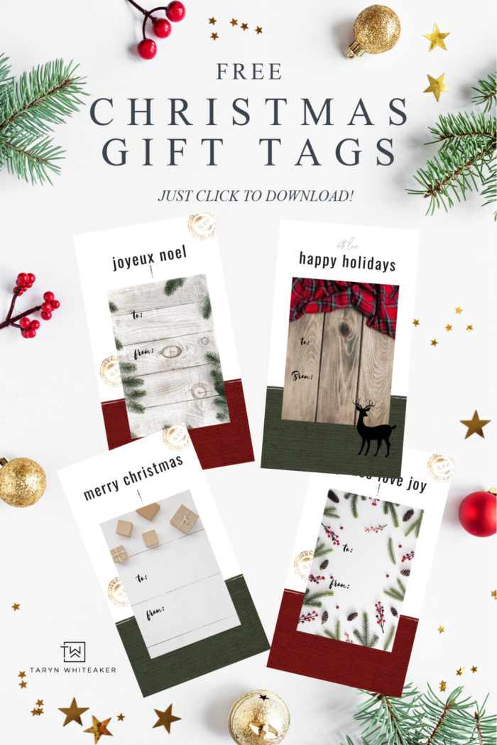 Personalize your presents with these rustic Printable Christmas Gift Tags! Simply download and print these Free Christmas Printables.