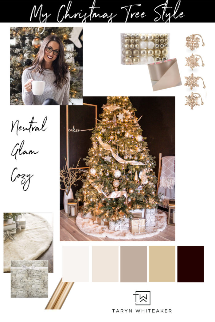 Get the look of this neutral cream and gold Christmas Tree! It's elegant a little modern and super sparkly!