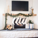 Asymmetrical Garland Mantel