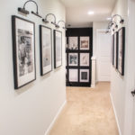 Black and White Hallway Gallery Wall