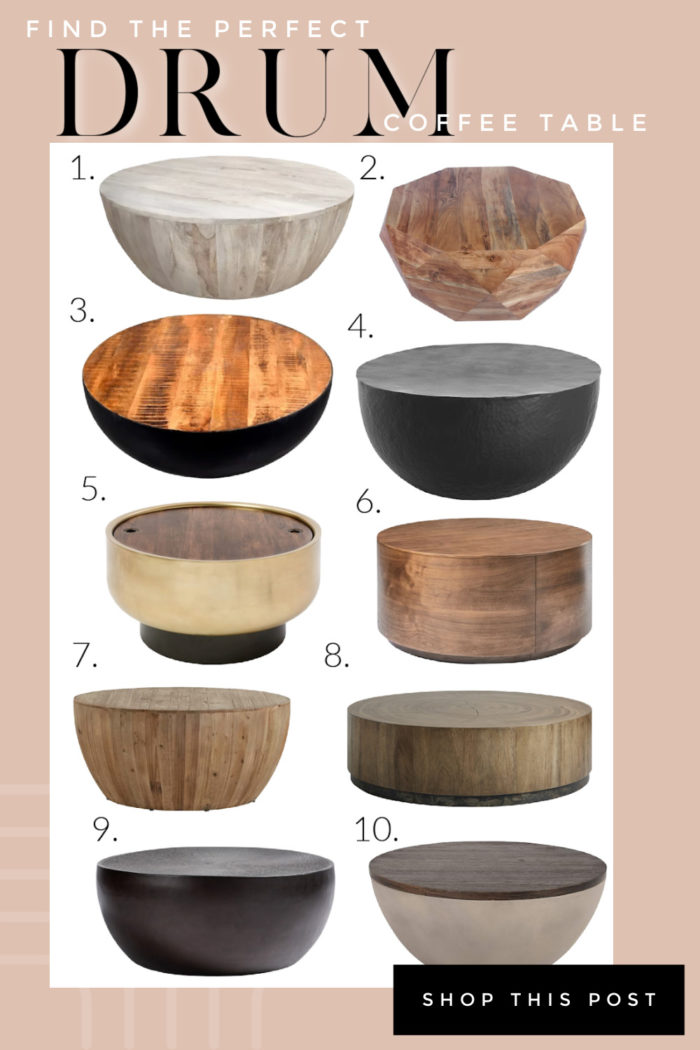 Are you searching for drum coffee tables? Here is a great list of rustic modern coffee tables for your home.