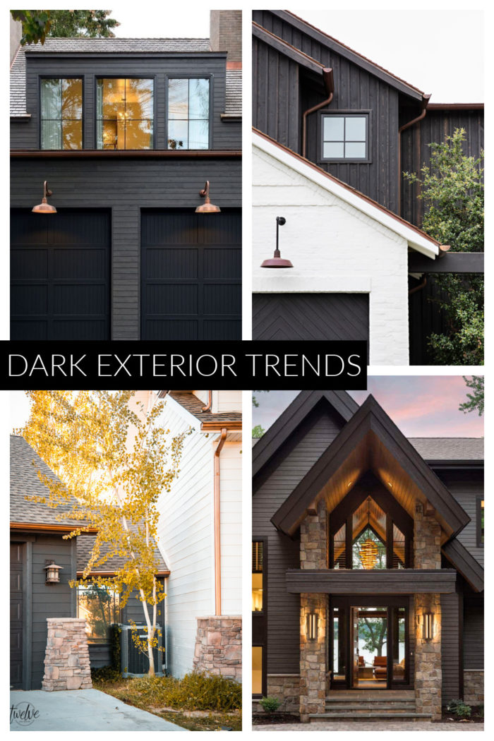 Browse through Dark Exterior Inspiration to get the rustic modern exterior look on your own home. Dark homes with stone and black accents.