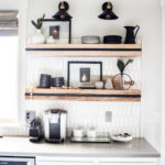 Winter Kitchen Shelf Styling