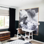 Black and White Skiing Bedroom Decor