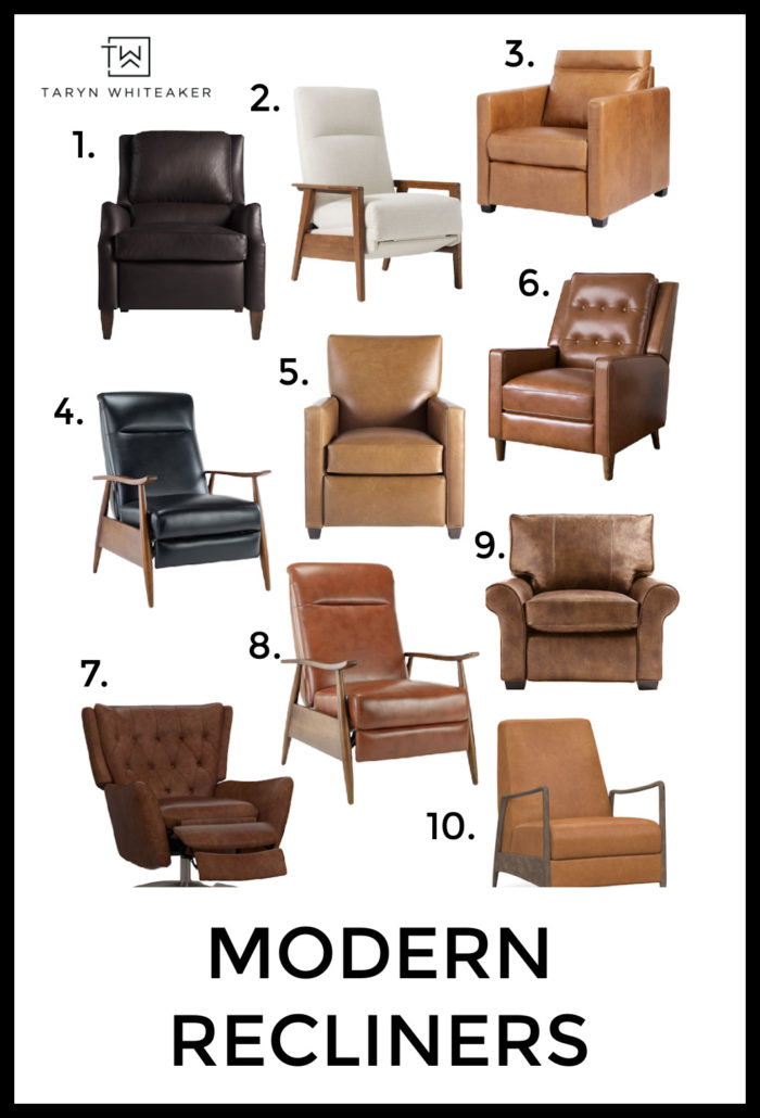 Recliners can still be trendy and design oriented! Check out these modern recliner options for your own living room!