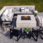 Modern Outdoor Fire Pit Seating Area