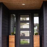 Modern Spring Porch With Black Exterior