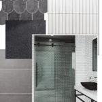 Black and White Bathroom Design Board