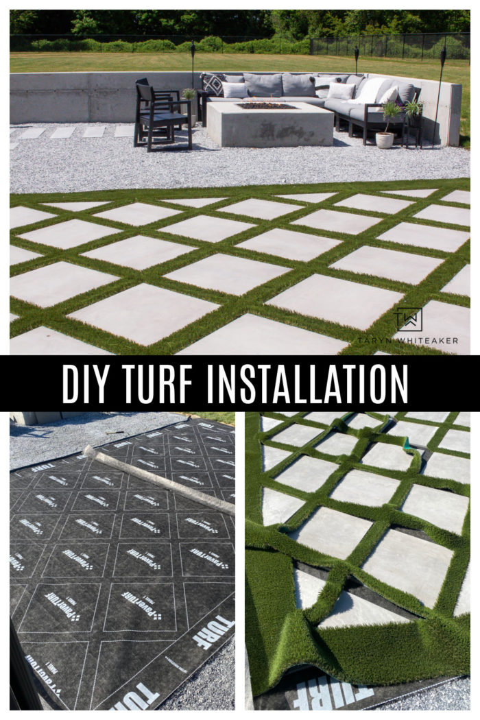 Tips for Installing Your Own Turf with the help of PaverTurf, a patented DIY turf, helping homeowners add luxury landscape themselves.