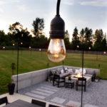 DIY Backyard String Lights