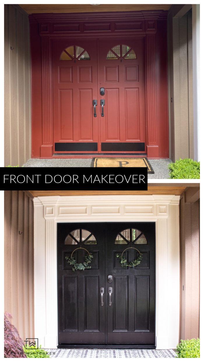 Front door makeover using Modern Masters Front Door Paint