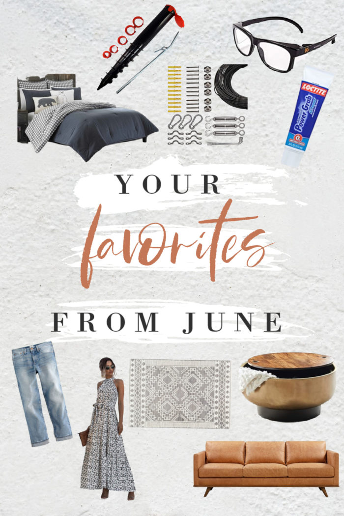 top products from June! From DIY, decorating and clothing favorites.