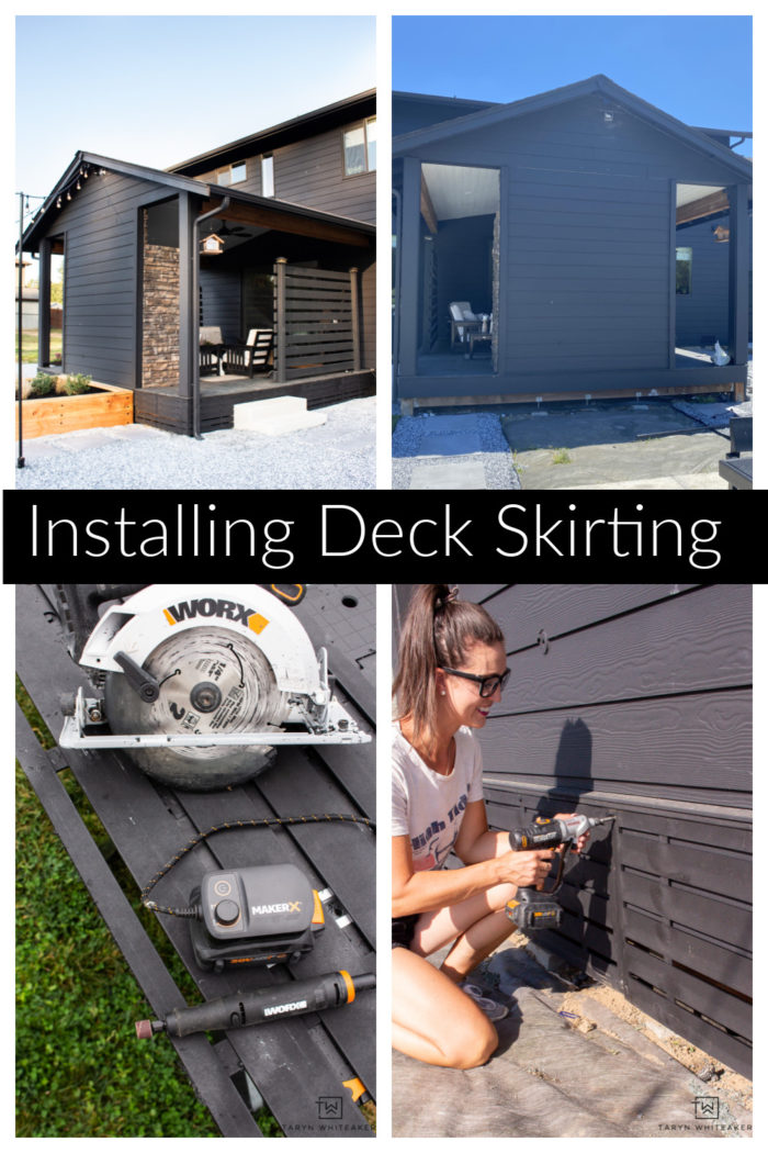 Learn to finish off your deck by installing deck skirting to a clean and finished look to your outdoor space. Easy weekend project!
