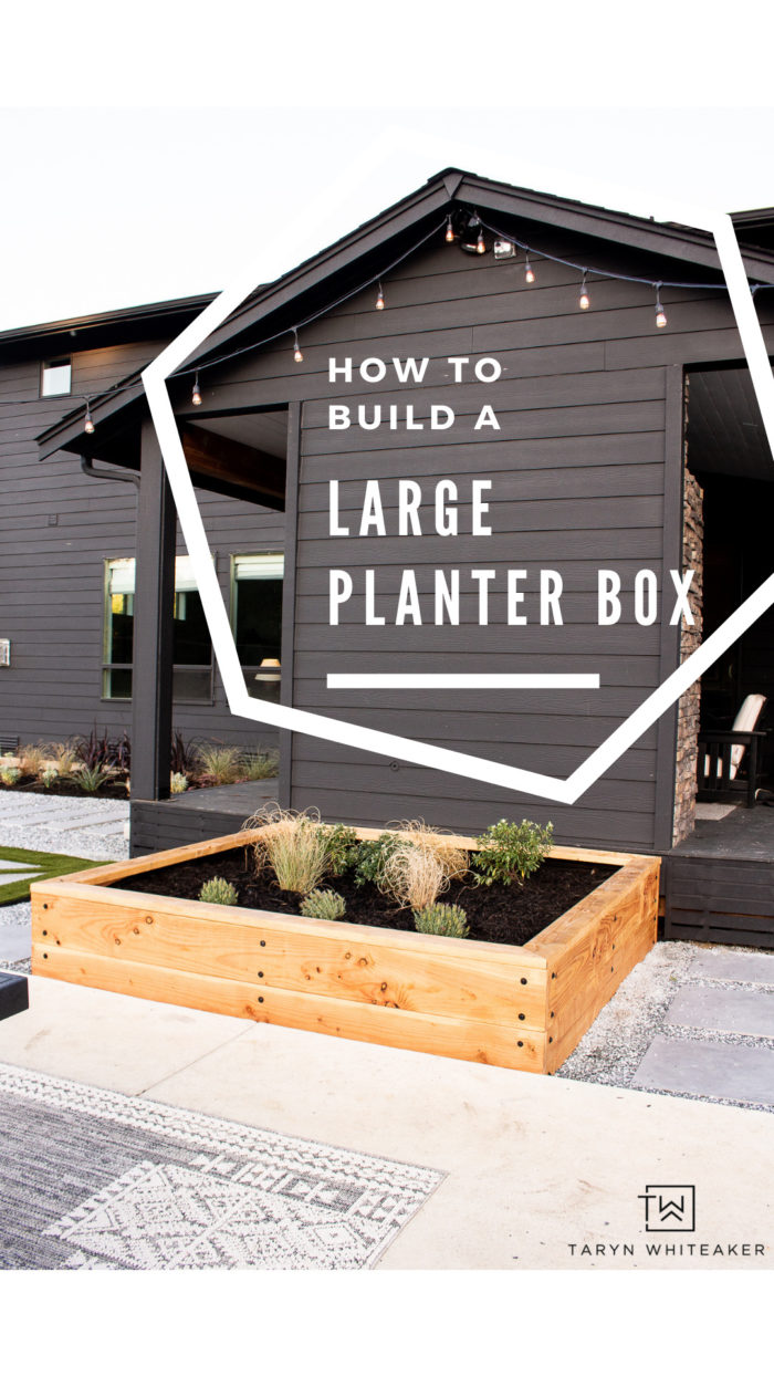 Learn how to build your own DIY Large Planter Box for your backyard! Build your own garden or landscape feature!
