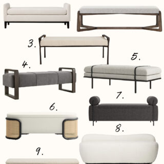 Modern Benches for Your Bedroom